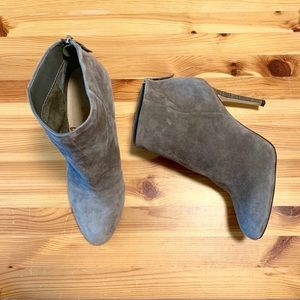 SAM EDELMAN Suede Grey Heeled ankle Boots